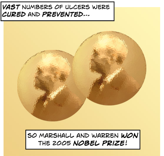 Marshall and Warren won the 2005 Nobel Prize