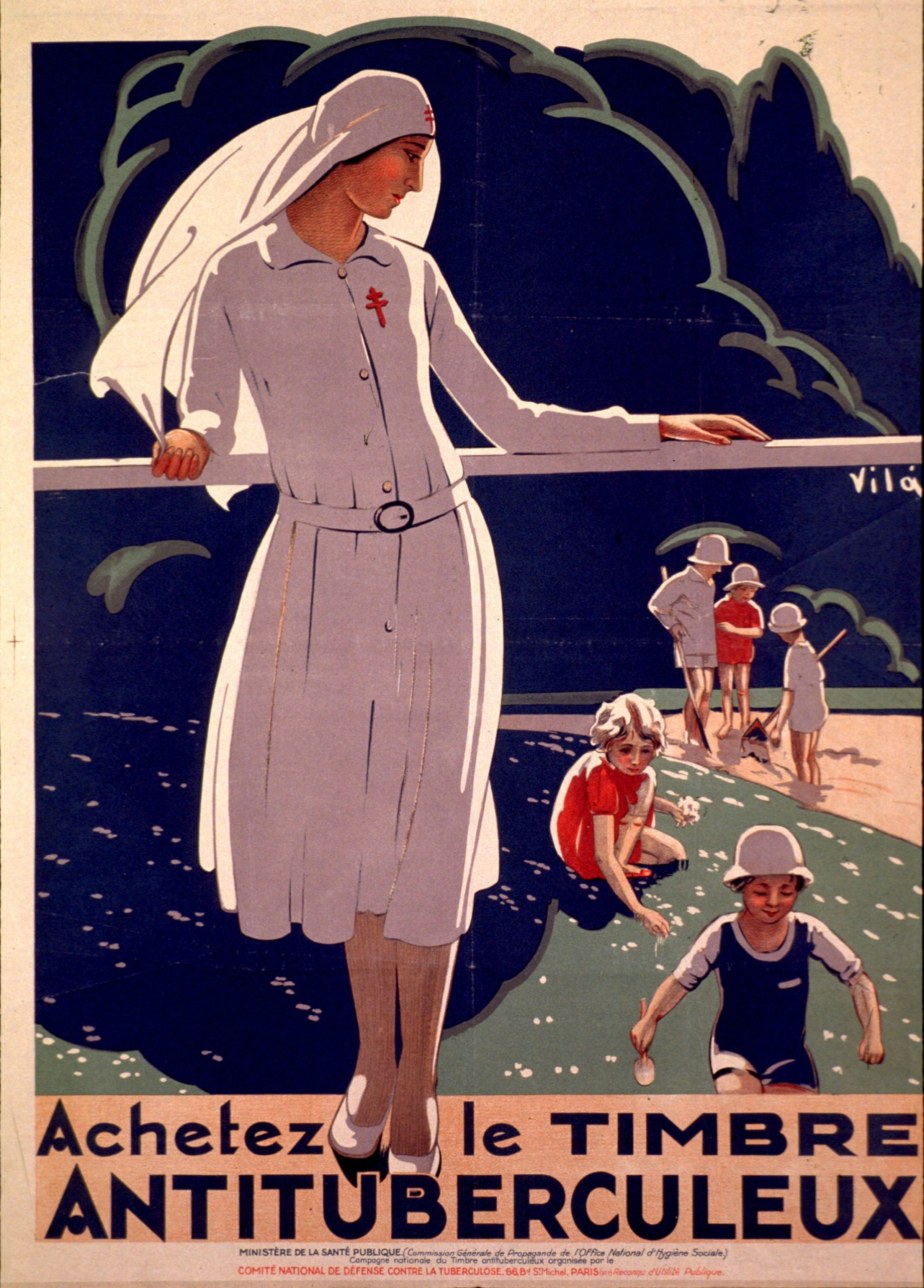 French anti-tuberculosis poster, date unknown