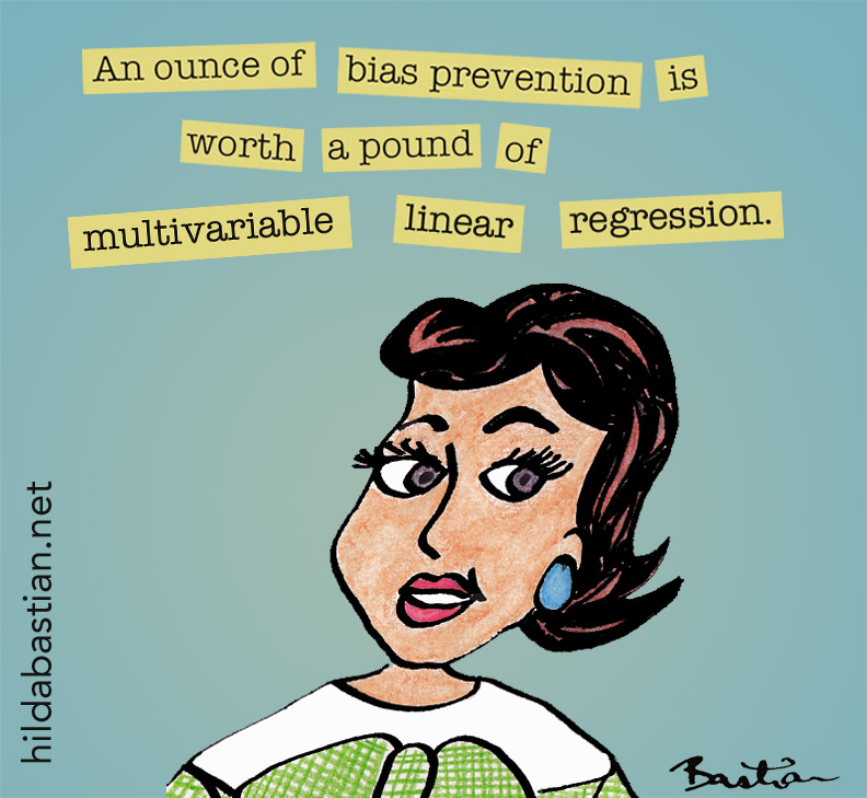 Cartoon: An ounce of prevention is worth a pound of miltivariable linear regression