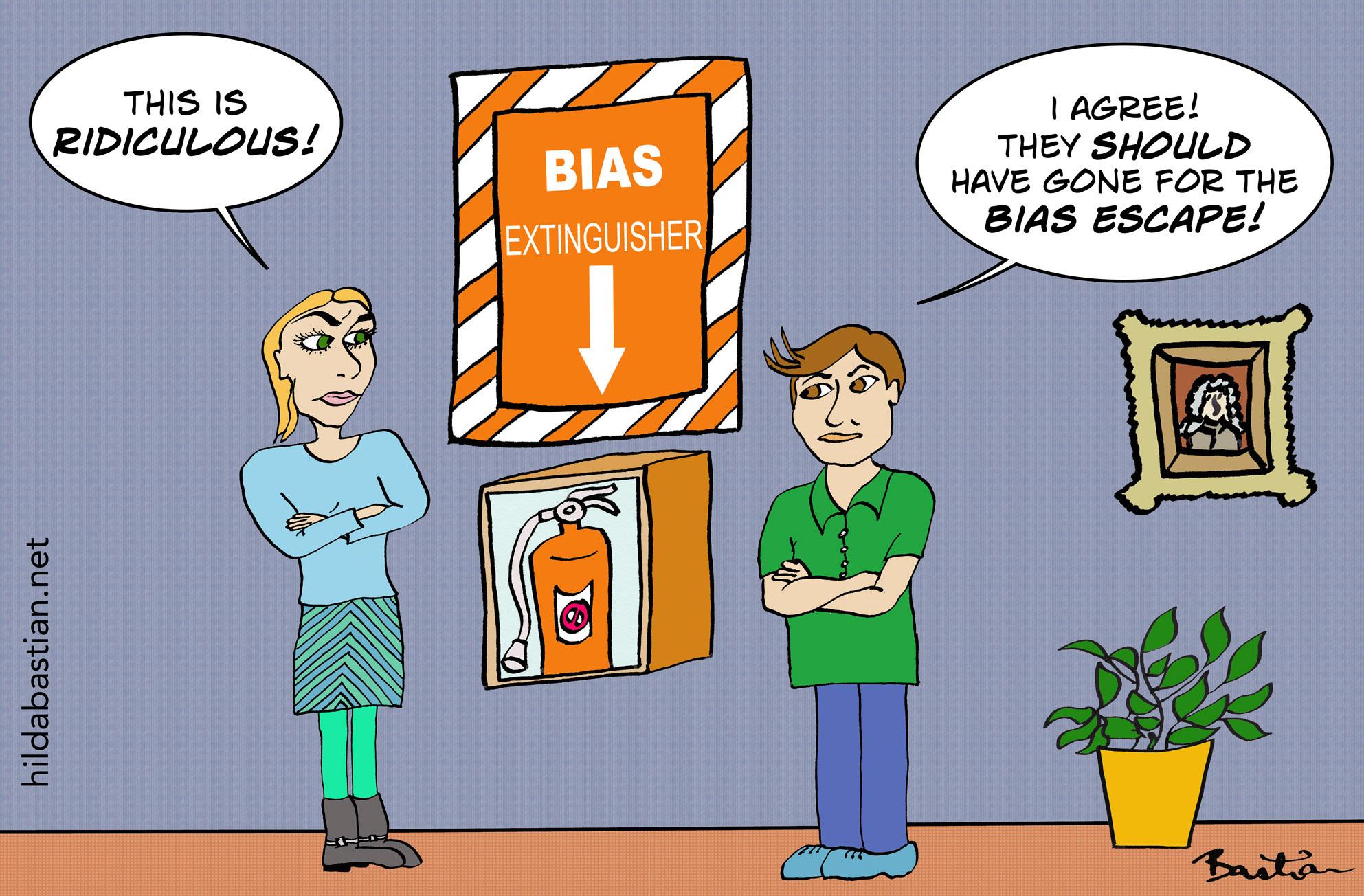 Cartoon bias extinguisher