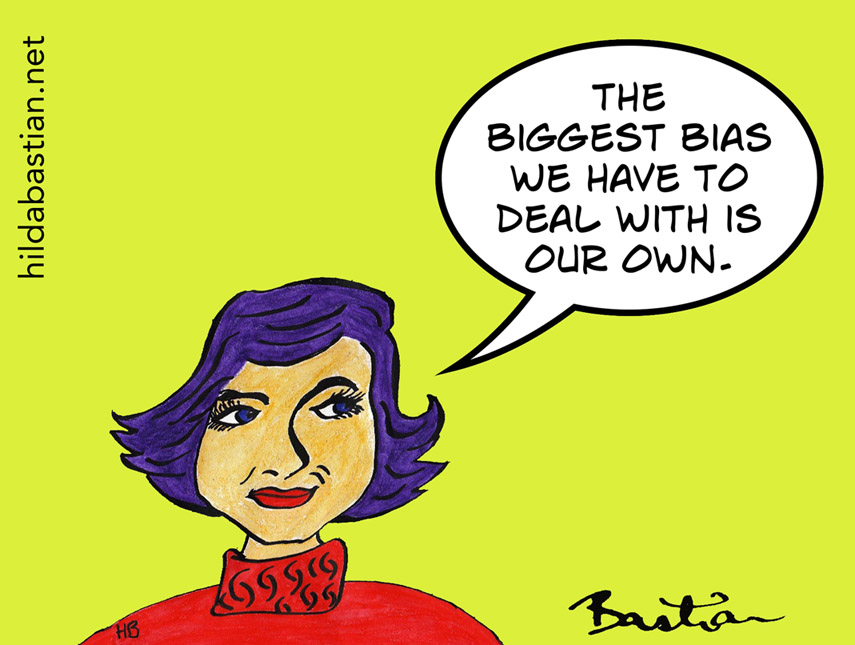 Cartoon - the biggest bias we have to deal with is our own