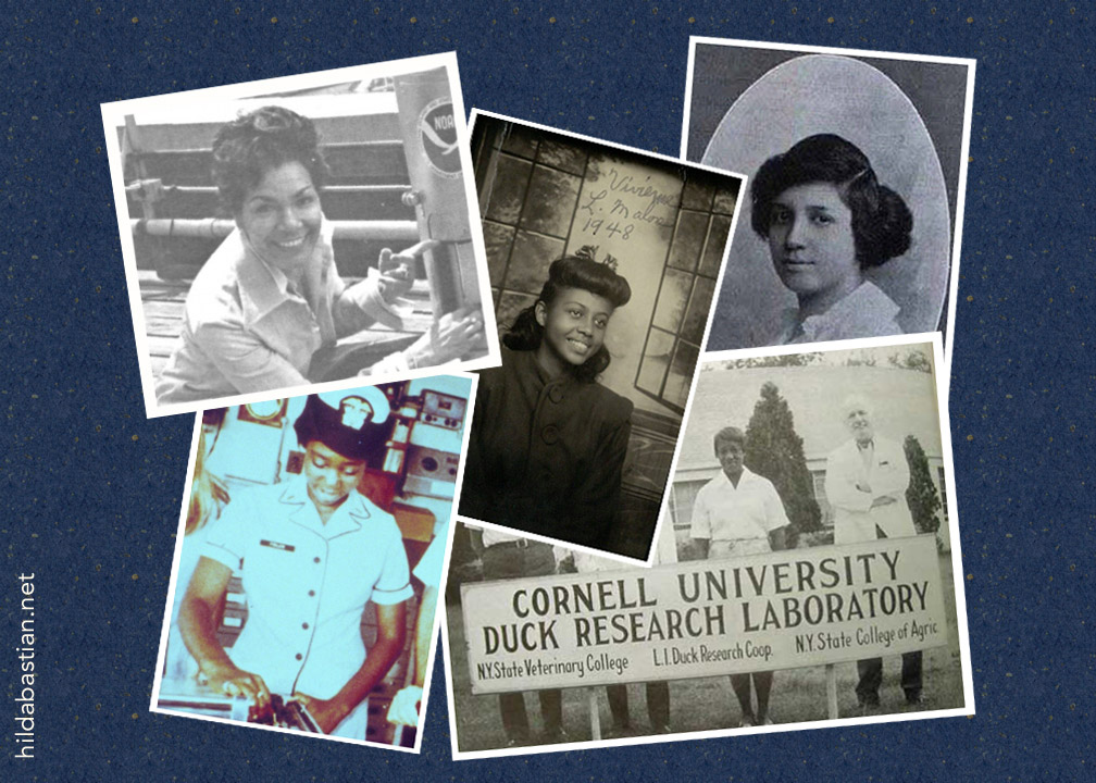 Montage of photos of African-American women in STEM