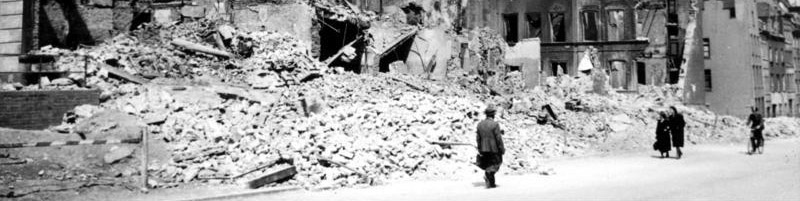 Photo of bombed-out street