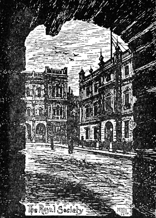 Black and white sketch of Burlington House