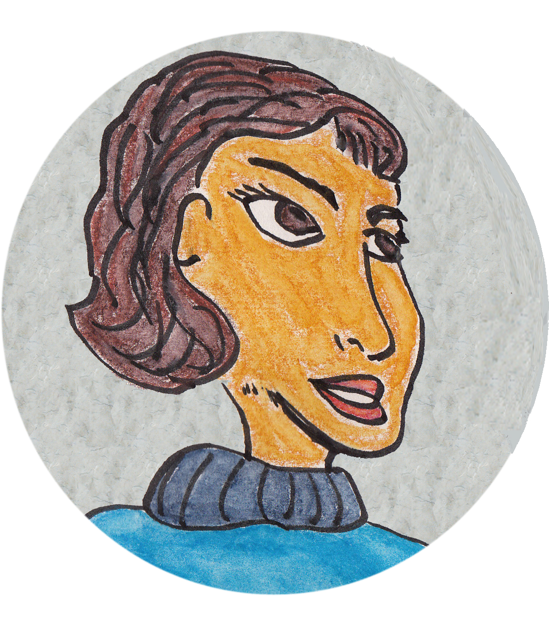Cartoon woman's face