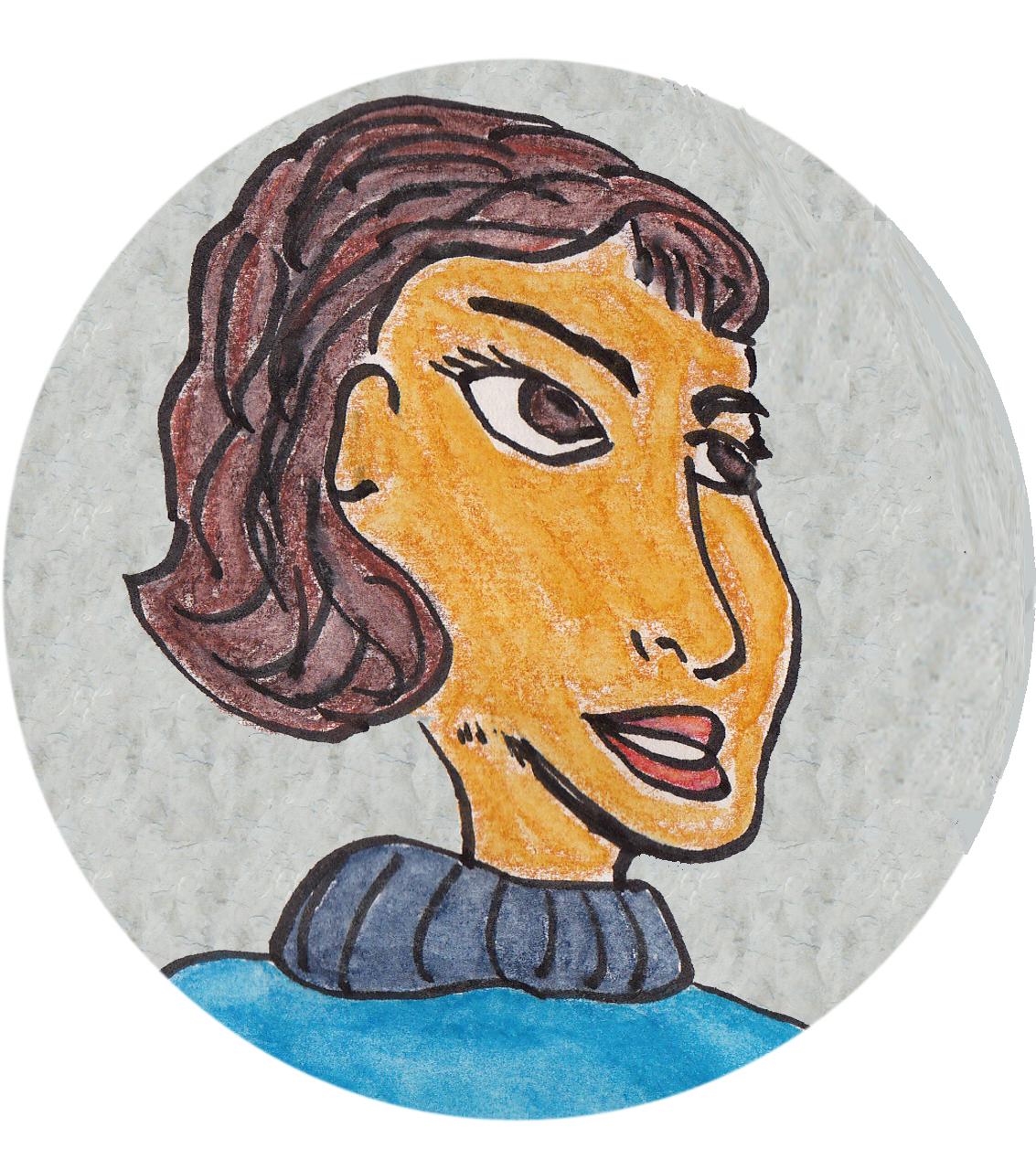 Cartoon woman's face