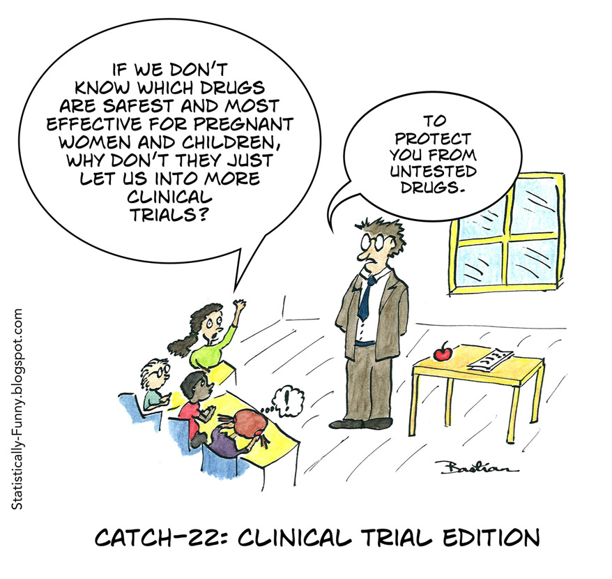Cartoon: why don't we test drugs on women and children?