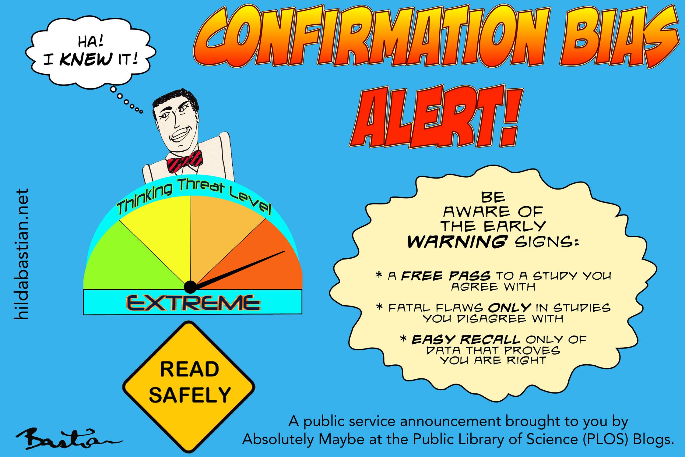 Cartoon PSA: Confirmation bias alert