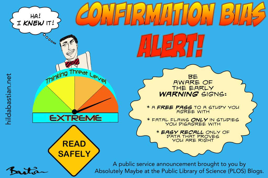 Cartoon PSA on confirmation bias