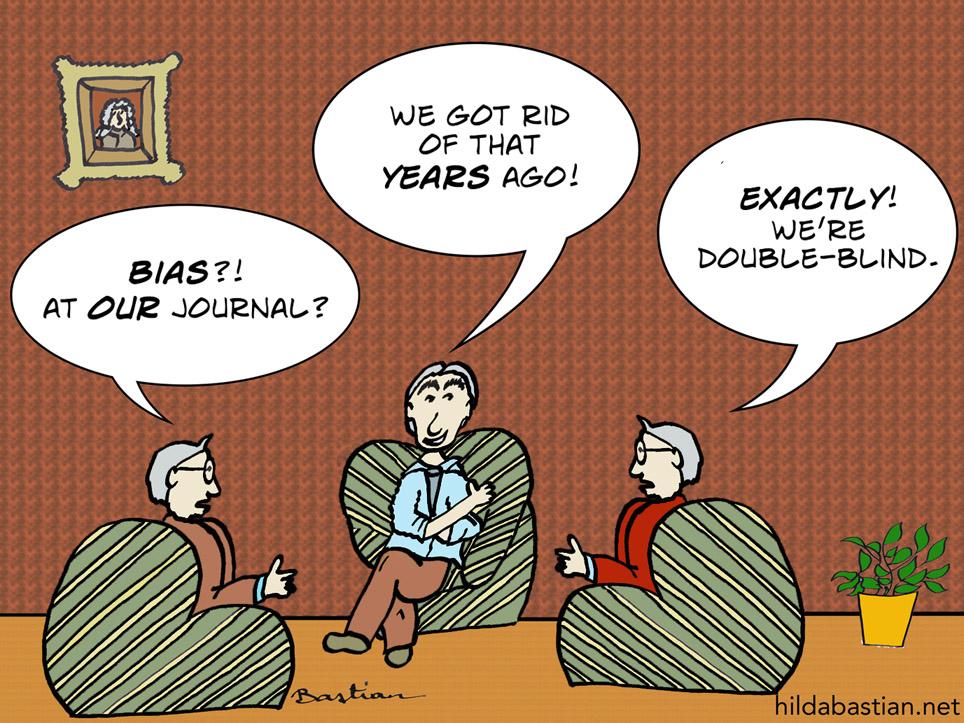 Cartoon of editors talking
