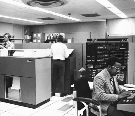 Photo of the first computer indexing the biomedical literature at the National Library of Medicine