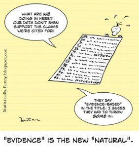 Cartoon: evidence is the new natural