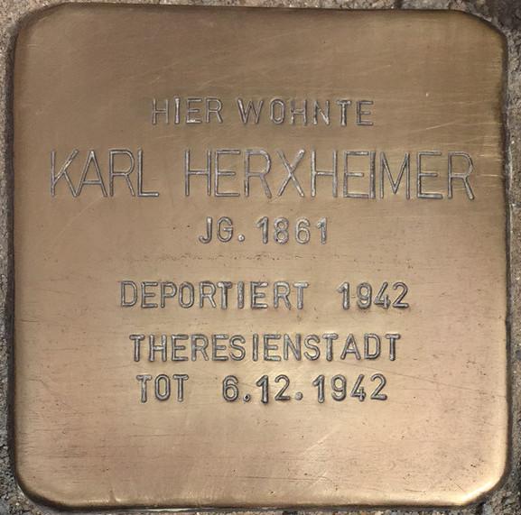 Photo of Stolperstein for Karl Herxheimer