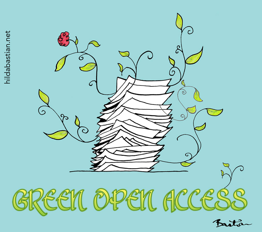 Cartoon for green open access