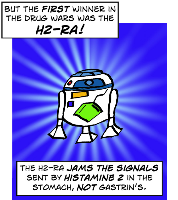 The first winner in the drug wars was the H2-RA