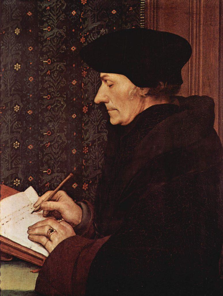 Hans Holbein's portrait of Erasmus