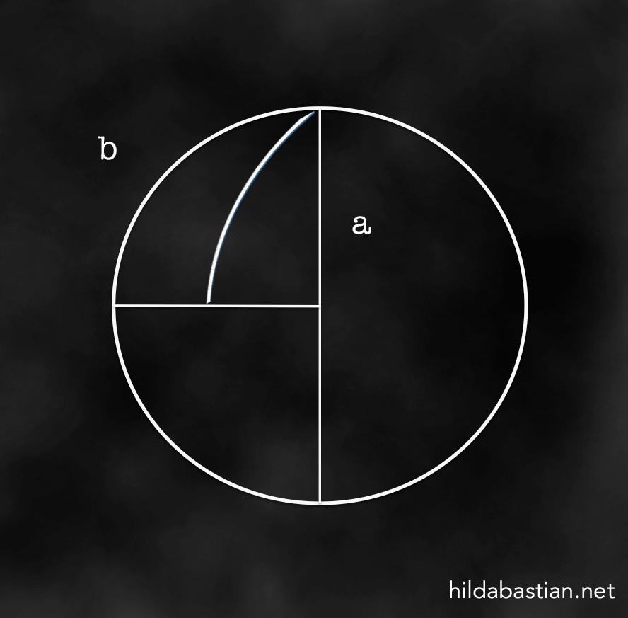 Mathematical drawing on blackboard