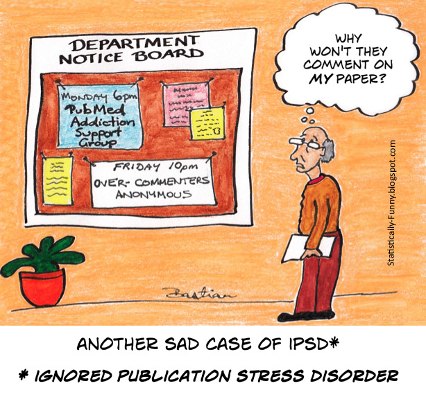 Cartoon of ignored publication stress disorder