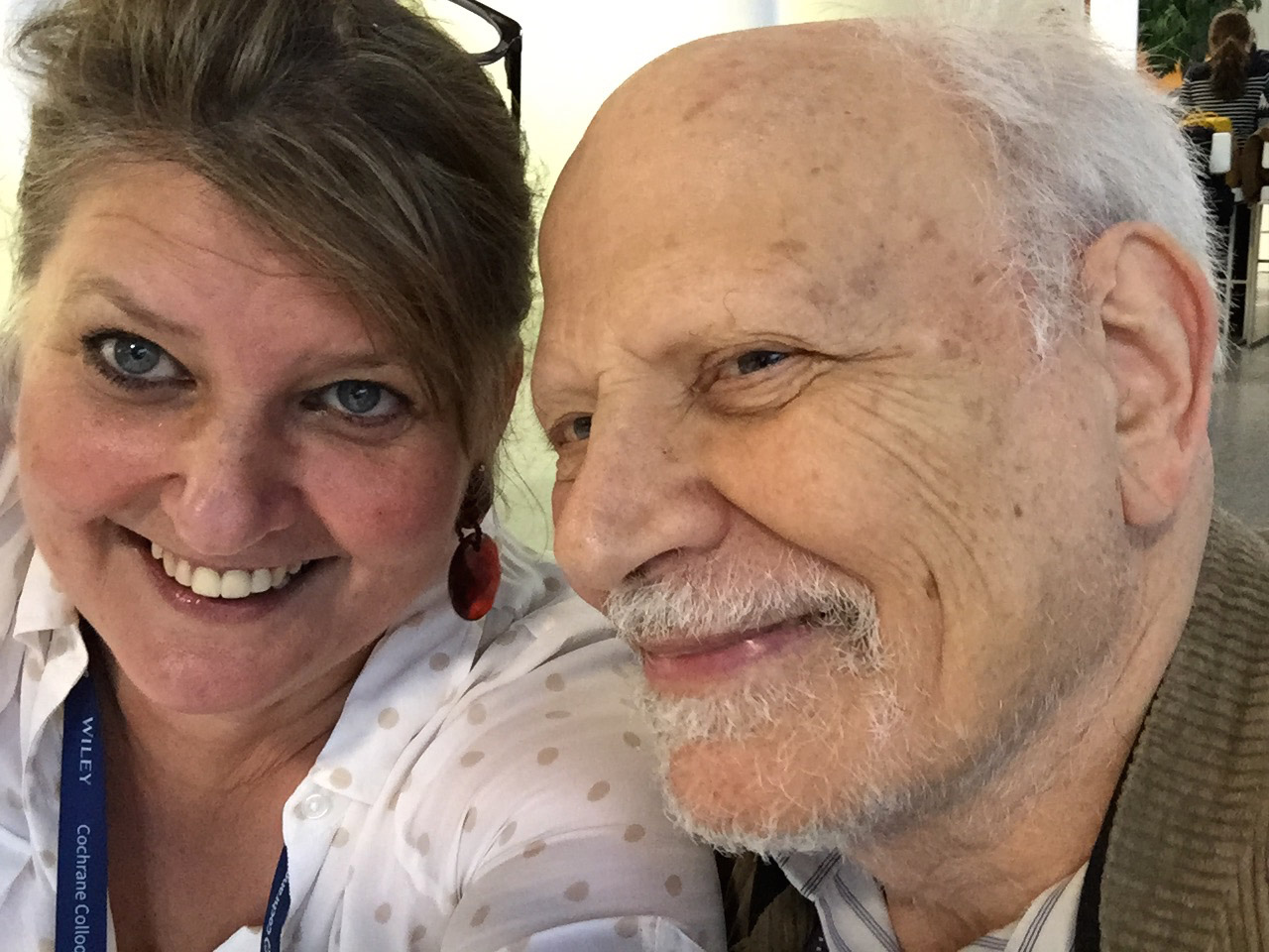 Hilda Bastian and Andrew Herxheimer selfie