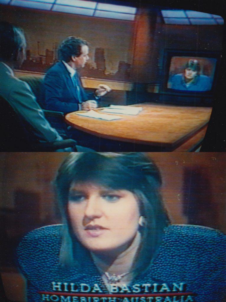 Photos of me in a TV debate