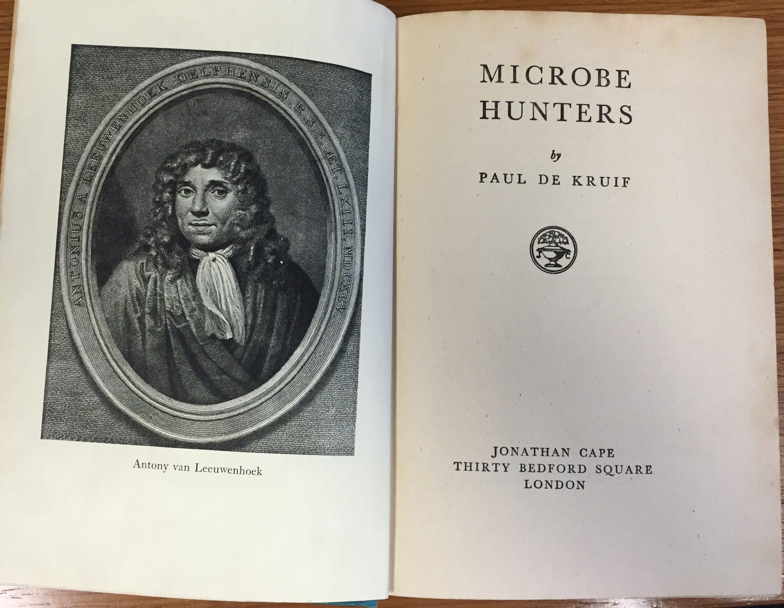 Photo of Paul de Kruif's, The Microbe Hunters