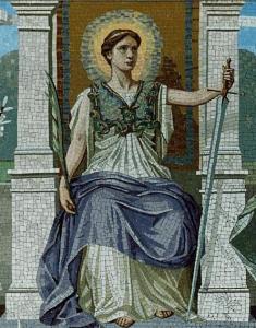 Mosaic representing law