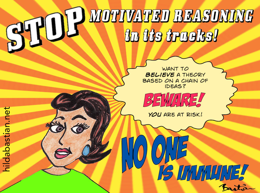 Cartoon campaign to stop motivated reasoning