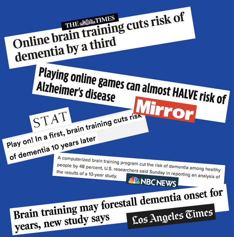 Collection of headlines about the ACTIVE trial