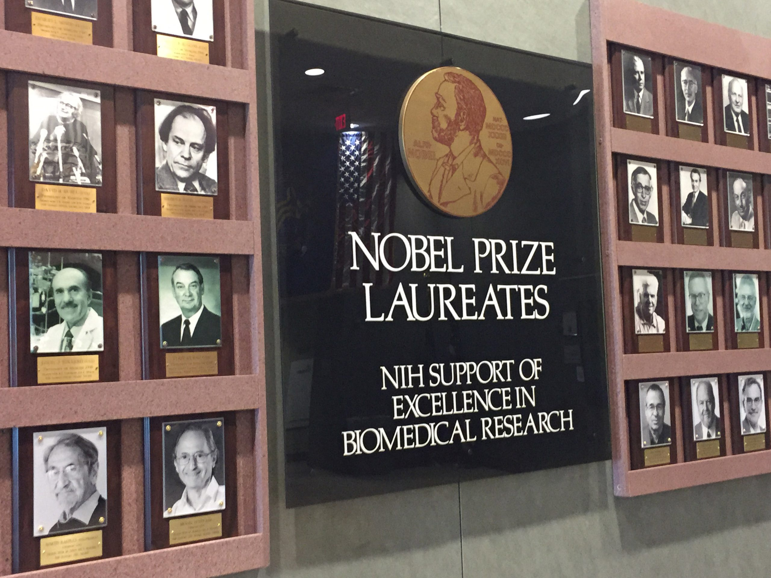 Photo of the Nobel Laureates Hall at the NIH