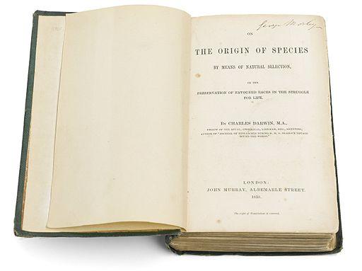 Photo of Darwin's The Origin of Species