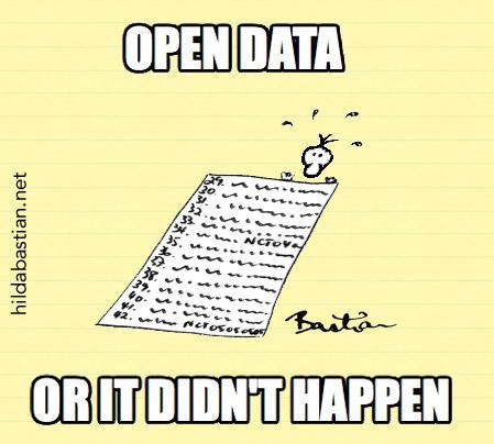 Open data meme - open data or it didn't happen