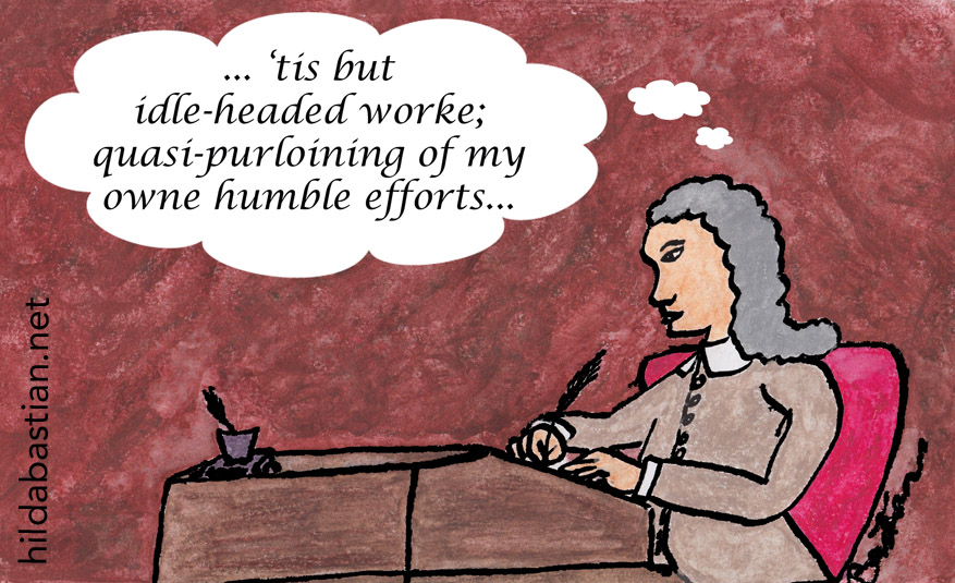Cartoon of peer reviewer hundreds of years ago