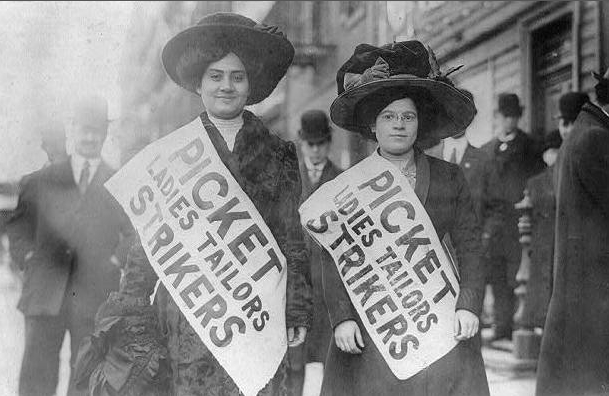 Photo of two women picketing