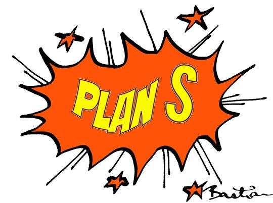 Plan S cartoon image