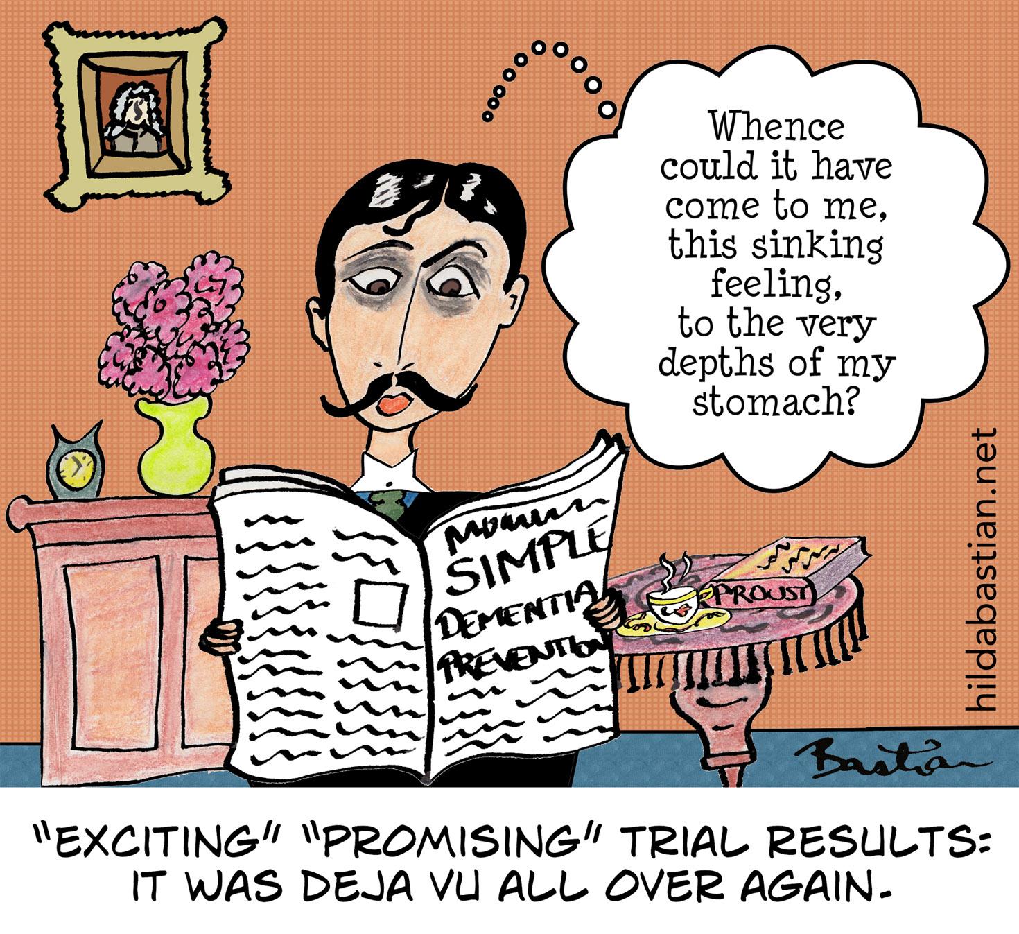 Cartoon of promising trial results - deja vu all over again