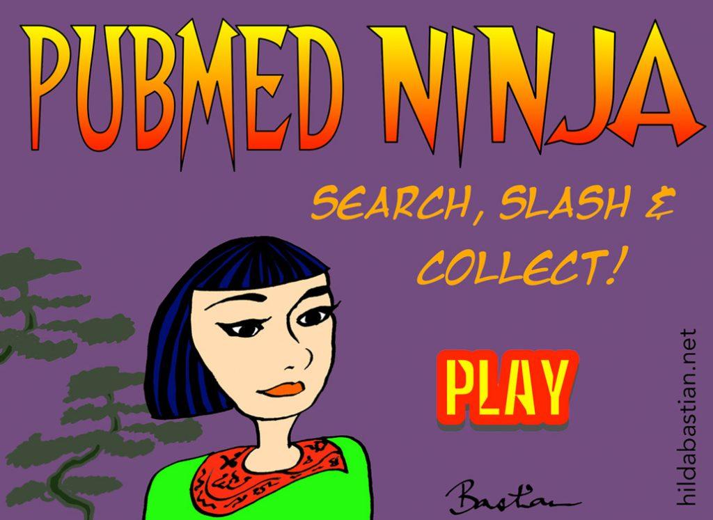 Imaginary PubMed Ninja cartoon game