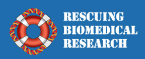 Rescuing Biomedical Research logo and link to website