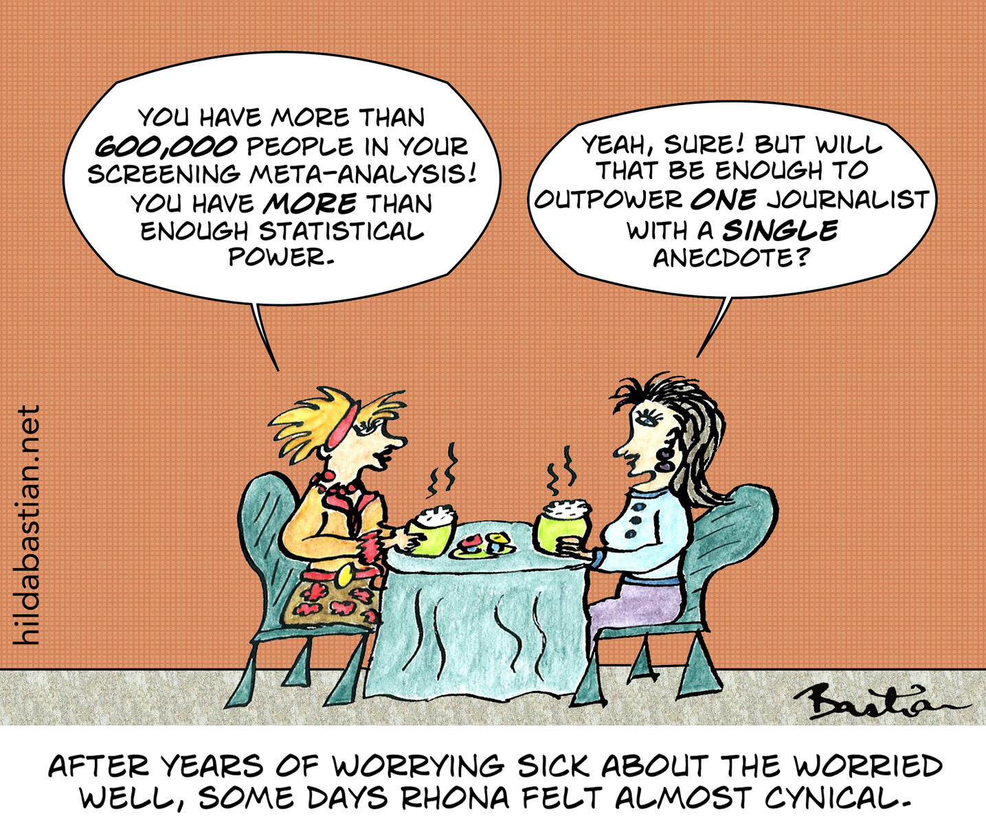 Cartoon of epidemiologists about the power of anecdotes