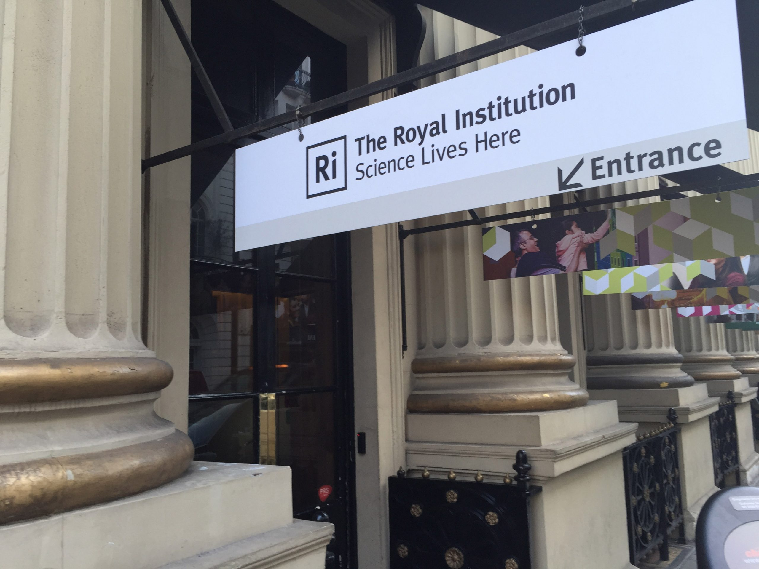 Photo of the entrance to the Royal Institution