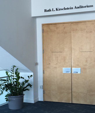 Photo of doorway with name
