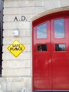 Photo of safe place sign