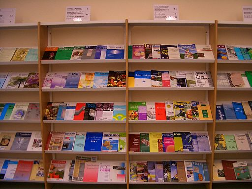 Photo of science journals in a university library