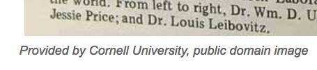 Screenshot of Cornell University website