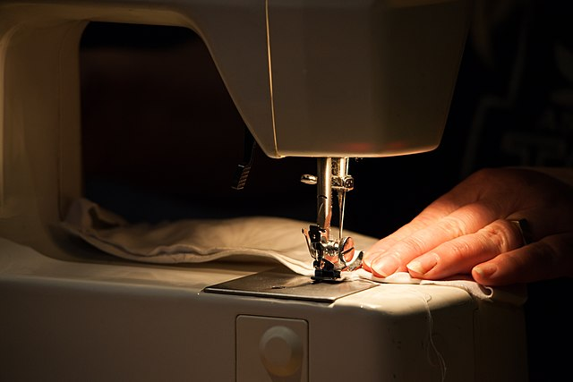 Photo of sewing a face mask