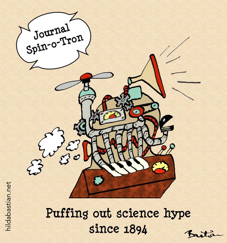 Cartoon of journal steam punk hype machine
