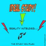 Cartoon of study planning vs reality