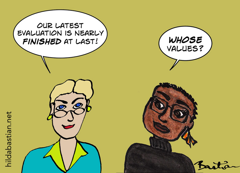 Cartoon - whose values?