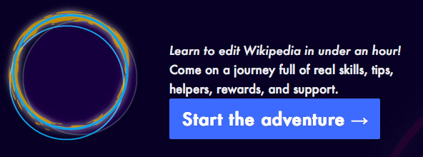Learn to edit Wikipedia in an hour - click to visit