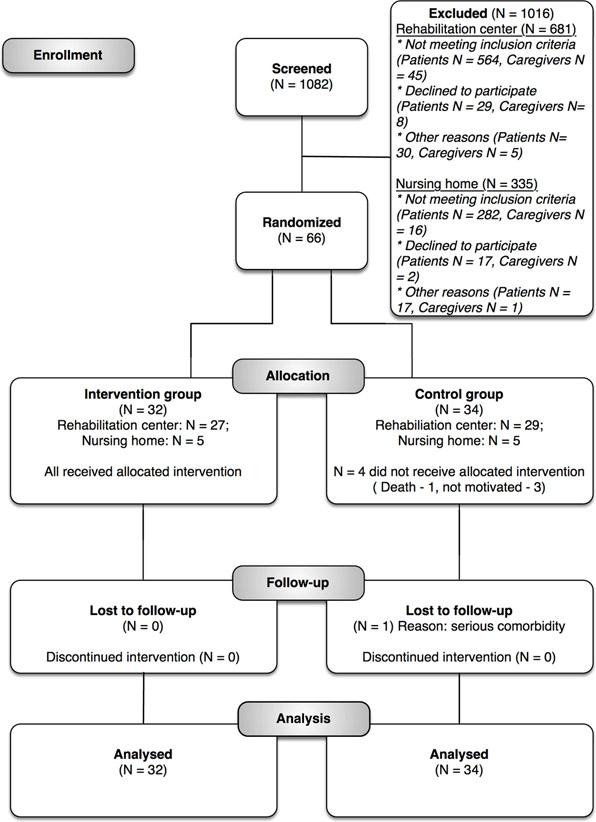 Clinical trial participant flowchart
