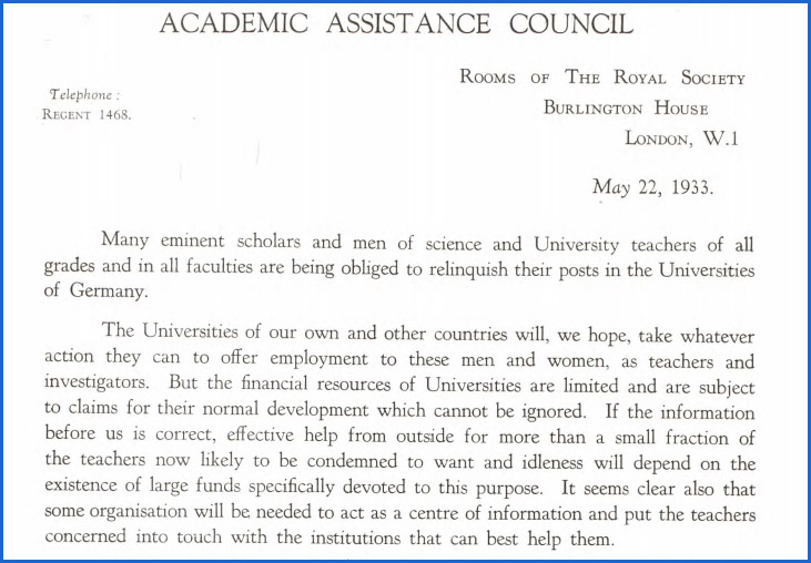 Part of the founding notice of the AAC
